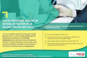¿Estás preparado auditar un Sistema de Gestión de la  Calidad con ISO 9001:2015?